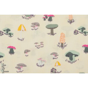 Popeline Agaricus Forest Froth  - Champignon AGF Art Gallery fabric