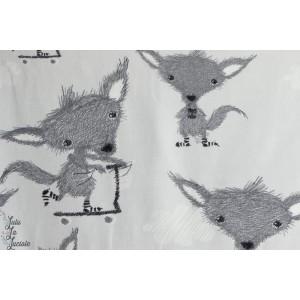 Petits renards à trottinette gris