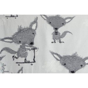 Petits renards à trottinette Suso Socke - grey Designer : MuttuRalla-stoffonkel