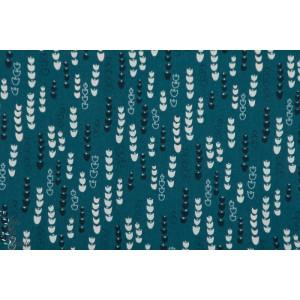 Popeline Clochette  jardin anglais - JARD1269 - Dahwood Studio plaid patch vert fleur graphique
