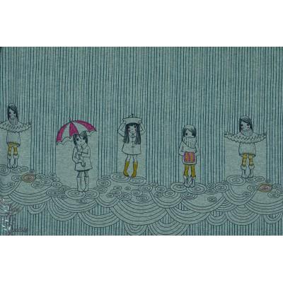 Jersey Bio Ragentag SUSAlabim Lillestoff fille pluie parapluie tempête météo temps