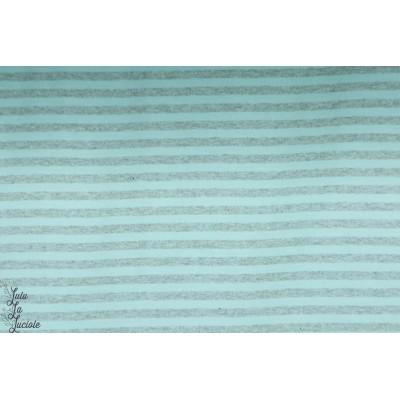 Jersey Bio  Rayé Bleu/Gris Lillestoff pastel gris chiné