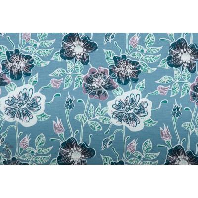 Modal Azul Lillestoff fleur bleu lillestoff for mig femme jersey