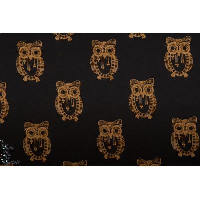 Summersweat Copper Owl Lillestoff chouette noir or couture femme bio