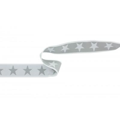Ceinture élastique 40mm étoile blanc /gris slip boxer homme garçon enfant