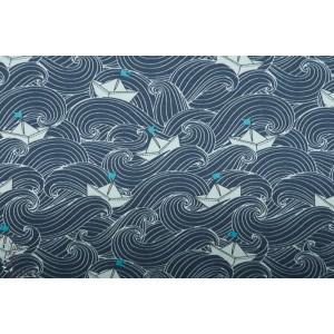 JERSEY STENZO VOGUE MON BATEAU bleu mer origami graphique