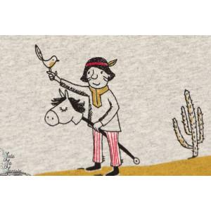 Jersey Bio Indiens, Design: Susanne Bochem/ SUSAlabim pour lillestoff.