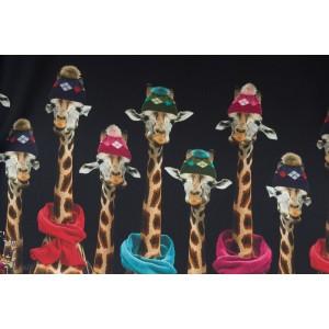 Double Bordure Stenzo girafe bleu  marine couture femme enfant