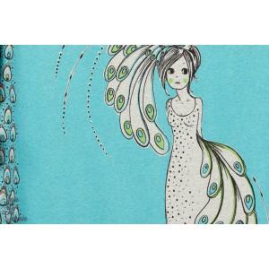 Jersey Bio la Femme au Paon, Design: Susanne Bochem/ SUSAlabim pour lillestoff