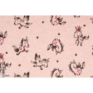 Sweat Unicorn Lover rose amour licorne couture fille enfant