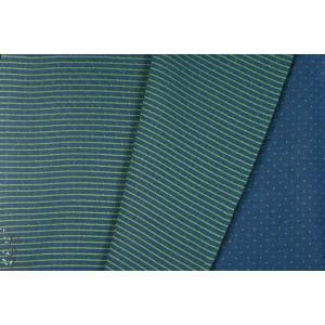 Sweat Matelassé Quilt Double Face bleu - vert