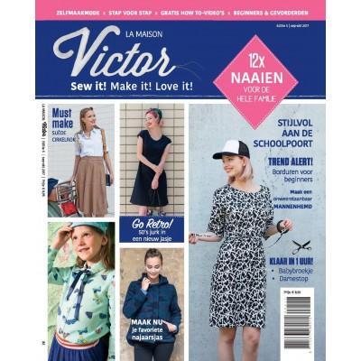 Magazine Maison Victor 5/2017 patron couture mode femme enfant bébé homme falmille