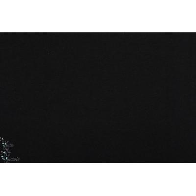 Bord côte Bio Tubulaire noir Lillestoff lisse organique gots