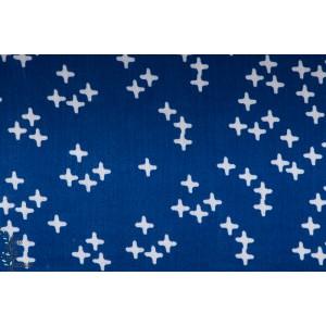 Double Gaze à croix Bleu