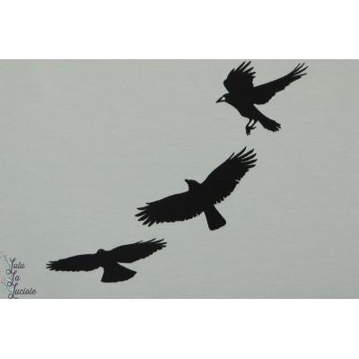 Sweat  bio french terry Crows Chat Chocolat corbeau oiseau gris