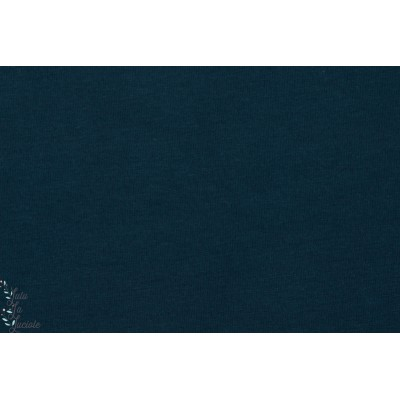 Jersey Bio Uni Lillestoff Dunkelblau marine bleu