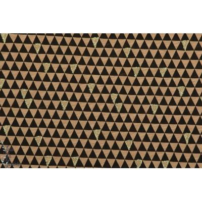 Slubjersey Driecke Noir et or  graphique femme brille triangle jersey bio