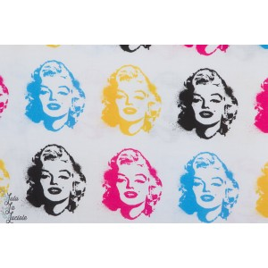 Popeline  BRIGHT de Robert Kaufman collection Marylin monroe