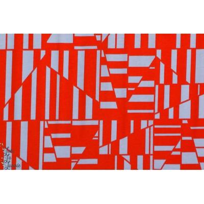 Jersey Flame par Carolyn Friedlander robert kaufman  graphique mode rouge femme