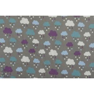 Popeline CPF Cloud de Copenhagen Print Factory nuage patch gris