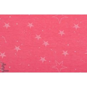 Jersey Lucky Star en rose par Sarah jane  pour Michael Miller