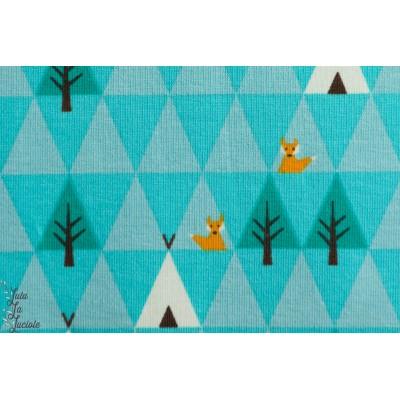 Jersey Bio Triangle Tipi - Bleu--Design by Stoffregen-Stoffonkel-