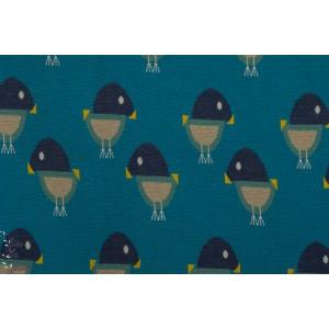 Jacquard oisillon bleu brinarina