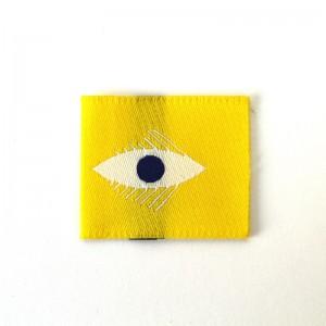 Etiquette Tissée Zieux Madame Casse Bonbon yeux jaune