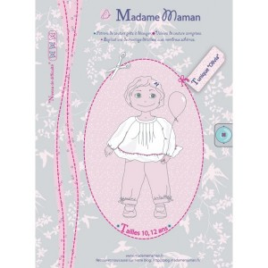 Patron tunique Madame maman fille  Olivia 10-12 ans
