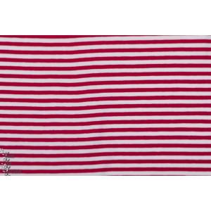 Jersey Bio rayé Wichtelkombi - les lutins - Lillestoff Rouge et Blanc