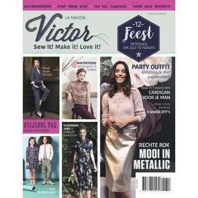 Magazine Maison Victor Edition novembre decembre coutute tricot noel fête 6/2017