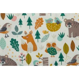 Popeline Dashwood Animaux de la Forêt - HARV1280 plaid mavada ours renard
