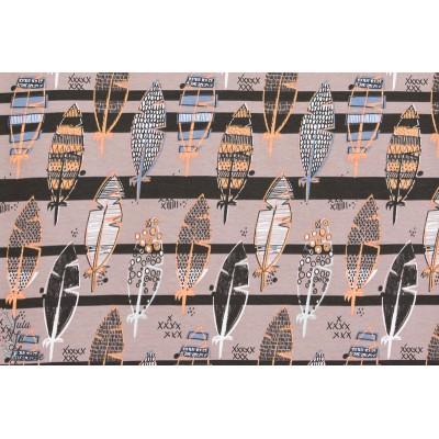Summerjersey Feathers, Plumes, Design: Pamela Hiltl/enemenemeins pour lillestoff.
