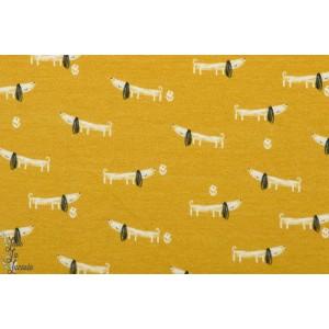 Jersey bertie Dashwood Studio mori girl chien jaune graphique