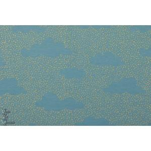 Summersweat bio ''Nuages de points'' en bleu clair  par SUSAlabim pour Lillestoff