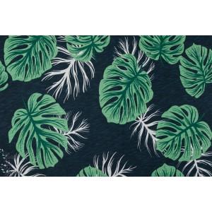 Slub Jersey Monstera végétal nature bio femme mode lillestoff