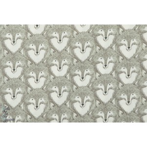 Popeline Cotton&Steel Foxes Grey