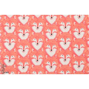 Popeline Cotton&Steel Foxes Corail