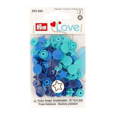 Bouton Pression Love Prym Etoile Bleu 393060