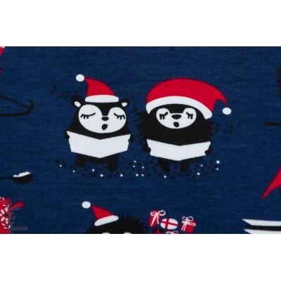 Sweat Bio Paapii Christmas carols Blueberry noêl chanteur bleu bonnet
