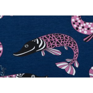 Jersey Bio Paapii Pike Blueberry carte poisson rose bleu