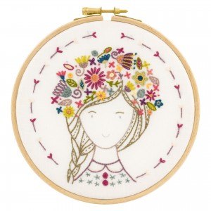 Eglantine, fleur des champs - kit à broder