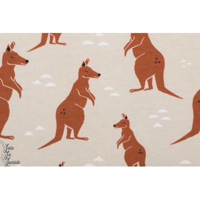 Jersey bio Elvelyckan design  kangourou Nude sable beige graphique