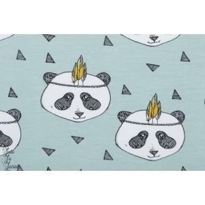 jersey bio Elvelyckan Panda Dusty Menthe