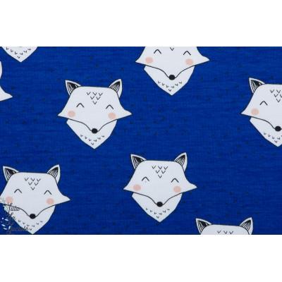 Jersey bio Elvelyckan Design Foxy Cobalt renard graphique bleu