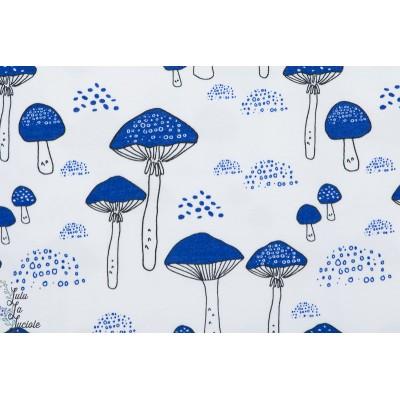 jersey Bio Elvelyckan Amanita Cobalt bleu design champignon amanite graphque