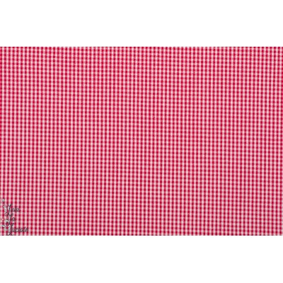 Popeline Hilco Vichy Rouge XS 1mm mini carreau