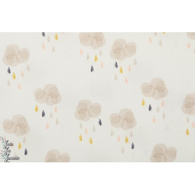 Popeline Dashwood AURA1277 -Clouds nuage autumn rain