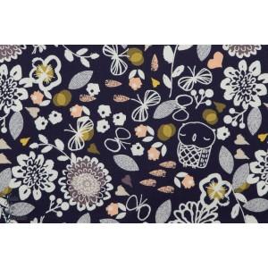 Popeline Dashwood AURA1273 - Owl & Flowers