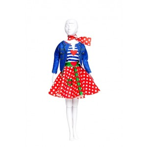 Kit Dress your Doll Lucy polka Dots couture poupée barbie